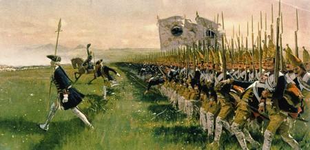 Freiberg, Lobositz, Rossbach, Leuthen, Zorndorf, Liegnitz, Hohenfriedberg… la guerra son 100.000 contra 100.000 y al final gana Prusia.